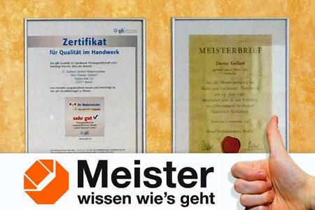 Gellert Malermeister in Berlin. Ihr Innungsfachbetrieb, Ausbildungsbetrieb mit 30 Jahre Berufserfahrung.