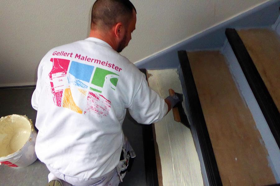 Ausbildung zum Maler und Lackierer bei Dieter Gellert Malermeister |Treppen und Treppenhäuser renovieren, aufbereiten und spachteln