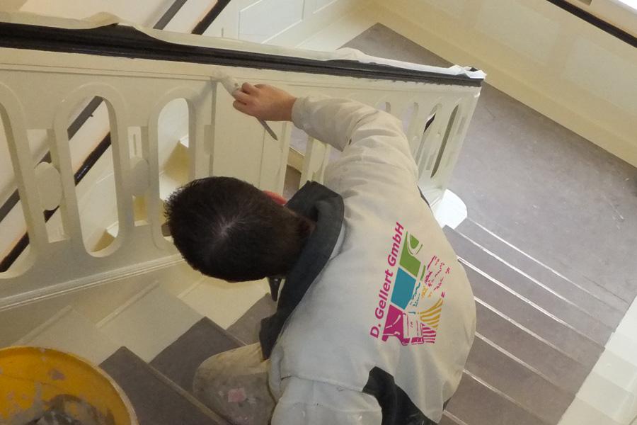 Treppen und Treppenhäuser renovieren, aufbereiten und spachteln